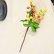 <b>5 Pieces</b> Christmas Berries, DIY Artificial Fruit Berry Holly <b>Flower</b> ...