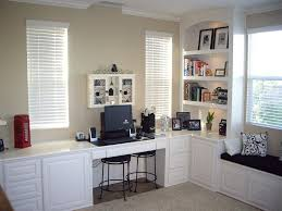 Office Lovely Custom Home Designs With White Wooden L  T