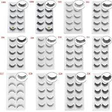SKONHED <b>5 Pairs 3D Mink</b> Hair False Eyelashes Natural Long ...