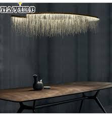 <b>Modern Aluminum Chain</b> Meteor Shower led Pendant Light for Hotel ...