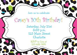 printable birthday party invitations for teenagers mickey rainbow cheetah girls birthday party invitation printable