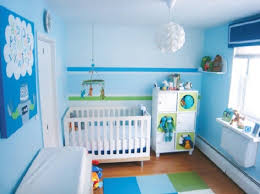 geous blue color baby boy room decorating ideas with white wood crib and bedding also boy bedroom ideas rooms