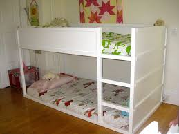charming white anddark orange colors themes small kids room design modern finish wooden ikea bunk bed bedroom kids designs bunk