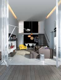 decorating attractive home interior design idea for living room with gray sofa yellow amchair and black staircase amazing home interior design ideas amazing interior design ideas home