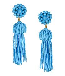 <b>Tassel Earrings</b> - Turquoise - Lisi Lerch