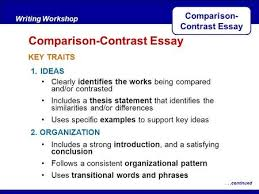 identifying similarities and differences from reading to  after reading key traits writing workshop comparison contrast essaycontinued