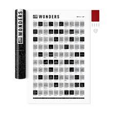 <b>Скретч</b>-постер #<b>100 дел</b> Wonders edition от 1DEA.me (арт ...