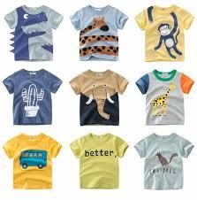 <b>Summer Children</b> Clothing Boys <b>T Shirt</b> Cotton Dinosaur Short ...