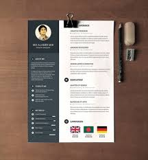 28 Minimal & Creative Resume Templates - PSD, Word & AI (Free ... Free Resume Template with Cover Letter