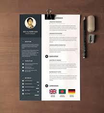 minimal  amp  creative resume templates   psd  word  amp  ai  free    free resume template   cover letter