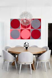round table dining room contemporary amazing ideas with hanging artwork formal dining room amazing hanging dining room