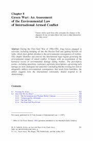 green war an assessment of the environmental law of international inside