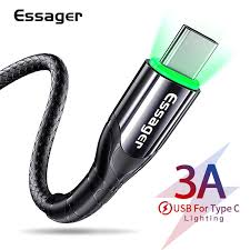 <b>Essager USB</b> Type C Cable <b>3m</b> Fast Charge Wire Cord USBC Type ...