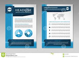 brochure flyer design layout template size a front page back page brochure flyer design layout template a4 size royalty stock image