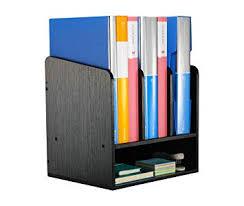 PAG Office Supplies Desk Organizer <b>Wood Magazine</b> File <b>Holder</b> ...