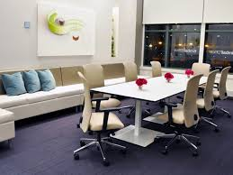 why not make your boardroom different crazy or even down right off the wall blue office room design