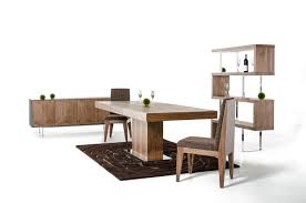 wood extendable dining table walnut modern tables: durham modern walnut extendable dining table