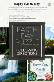 best ideas about following directions following an earth day puzzle following directions