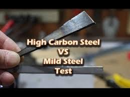 <b>High Carbon Steel</b> vs Mild Steel Test - YouTube