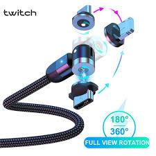 <b>Twitch</b> 3A <b>Magnetic</b> Micro USB Cable 540 Paikutin ang Mabilis na ...