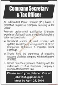 company secretary tax officer jobs dawn jobs ads  company secretary tax officer jobs dawn jobs ads 17 2016