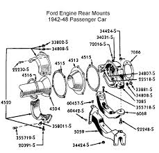 flathead parts drawings transmissions rear mount engine trans for 1942 to 48 car