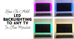 How to Add <b>LED Backlighting</b> to Any TV in Five Minutes!