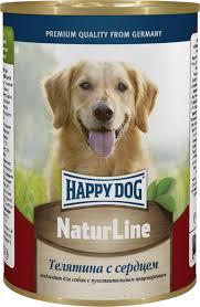 """<b>Консервы</b> для собак <b>Happy Dog</b> """"<b>Natur</b> Line"""", телятина с сердцем ..."""