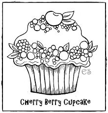 Small Picture Cute Birthday Cupcake Coloring Pages Free Printable Pictures