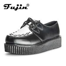 <b>Fujin Brand</b> Skull Leather PU autumn <b>Creepers shoes</b> plus size 35 ...