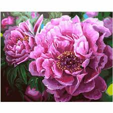 <b>WEEN</b> Purple <b>Daisy</b> Vase-DIY <b>Framed Oil</b> Painting By Numbers kit ...