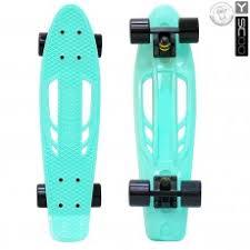 <b>Скейтборд Y-SCOO Skateboard Fishbone</b> 22 дюйма - Aqua-black ...