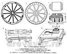 Деревянное колесо своими руками чертежи