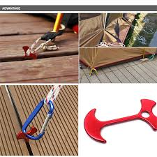 <b>Outdoor</b> Practial 1PCS 6.7cm Aluminum Alloy <b>Tent Nail Stake</b> Floor ...