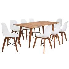 <b>Nine Piece</b> White <b>Solid</b> Wooden Dining Set – Novielo London