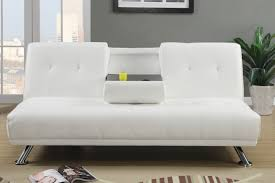 breathtaking white leather sofa bed modern futons sofa  ciov