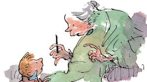 The Boy and grandmother from Roald Dahl's book 'The Witches'