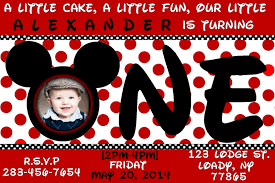 mickey mouse st birthday invitations ideas invitations red card mickey mouse 1st birthday invitations