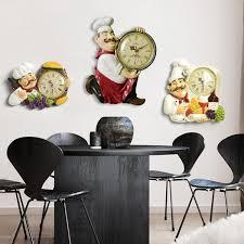 <b>Resin Chef</b> Cute <b>Wall Clock</b> Home Watch Bathroom Kitchen Clock ...