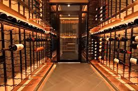 stailess steel light bars bellevue custom wine cellar