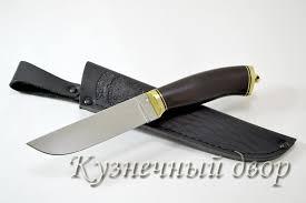 """<b>Нож</b> """"<b>Бекас</b>"""" <b>сталь-110Х18</b> кованая, рукоять-латунь, дерево"""