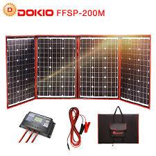 <b>Dokio</b> 200W (50W*4) Solar Panel 12V/<b>18V</b> Flexible Foldble Solar ...