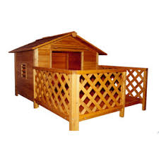Shop Dog Houses at Lowes comMerry Pet    ft x    ft x    ft Wood Dog House