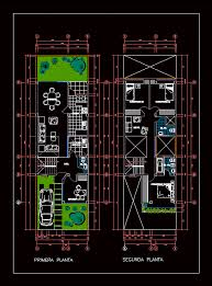 Housing plan   duplex in AUTOCAD DRAWING   BiblioCADHousing plan   duplex  dwgAutocad drawing