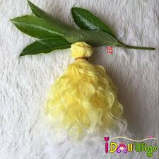 Online Shop <b>1PC</b> 15*100cm Water Wavy <b>Doll</b> Hair Wefts for Sewing ...