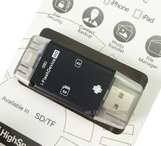 i-Flash Drive External <b>Micro SD</b>/<b>TF Card</b> Reader for iPhone 5 5S 6 6 ...