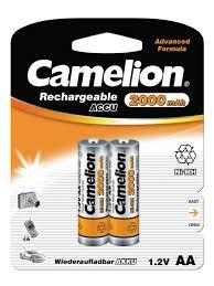 <b>Аккумуляторы</b> NH-AA2000BP2, АА, 2шт. <b>Camelion</b> 8524089 в ...