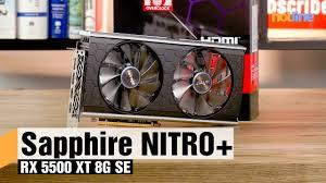 <b>Sapphire NITRO+</b> RX 5500 XT 8G SE – обзор <b>видеокарты</b> - YouTube