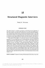 structured diagnostic interviews springer inside