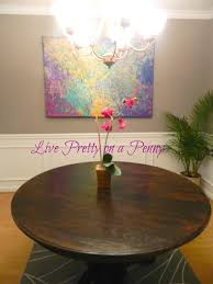 dining room table plans shiny: live pretty on a penny refinishing an oak table a dining room update